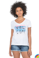 VOLCOM Feathered SS Tee : WHITE - B3521708_WHT_01.jpg